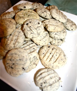 """Got the Blues?"" Tea infused Shortbread Cookies"